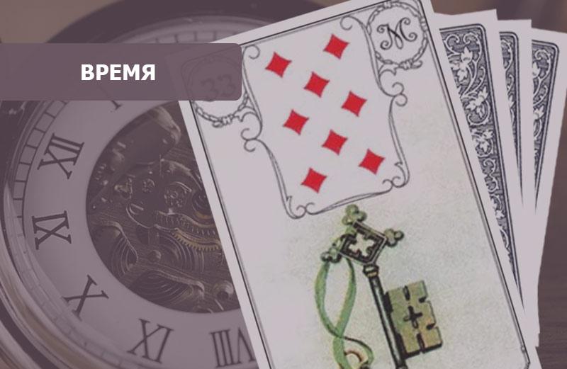 Сочетание карт Ленорман Ключ: время