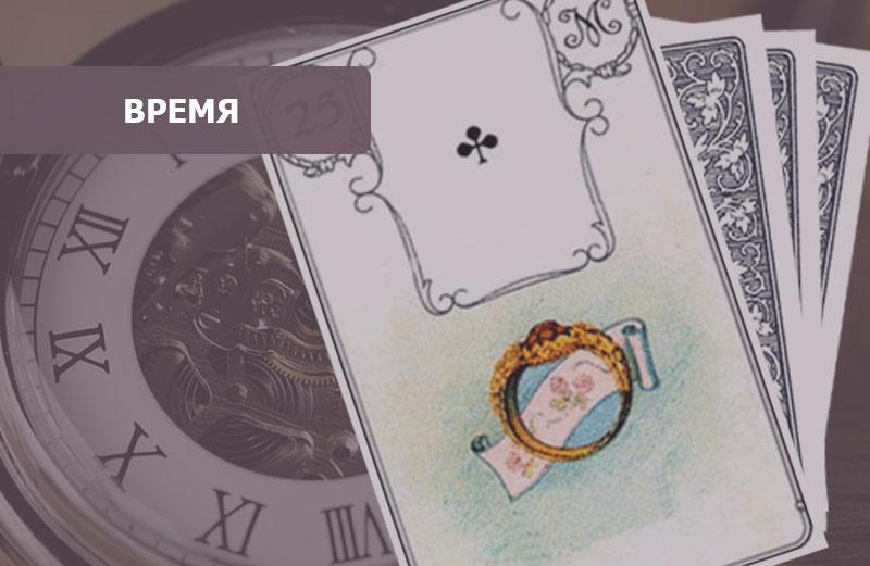 Карта Кольцо Ленорман: время
