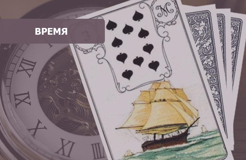 Корабль в картах Ленорман: время