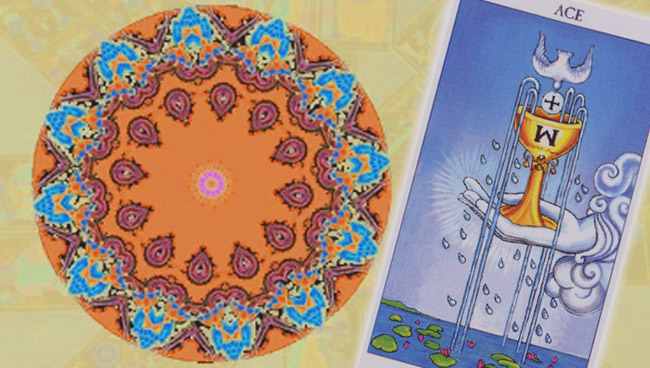 Мандала Таро на любовь - квадрат, треугольник, круг